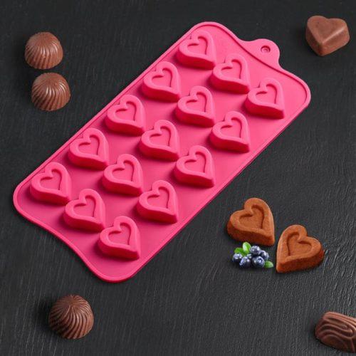Форма для шоколада «Сердечко»