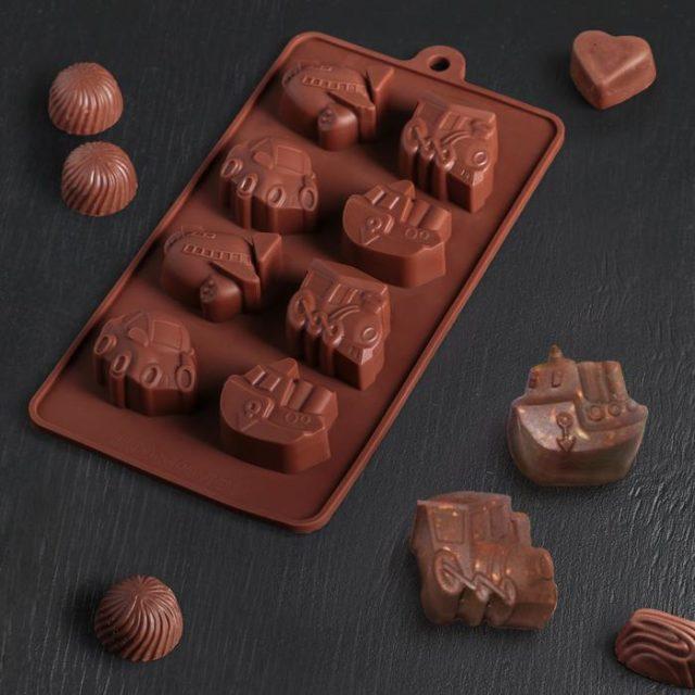 Форма для шоколада «Транспорт»
