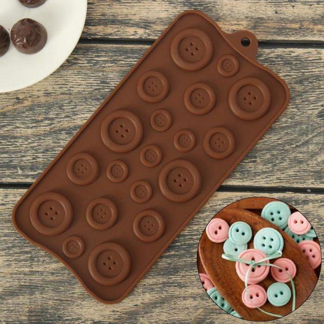 Форма для шоколада «Пуговки»