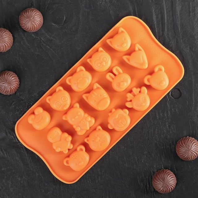 Форма для шоколада «Мордашки»