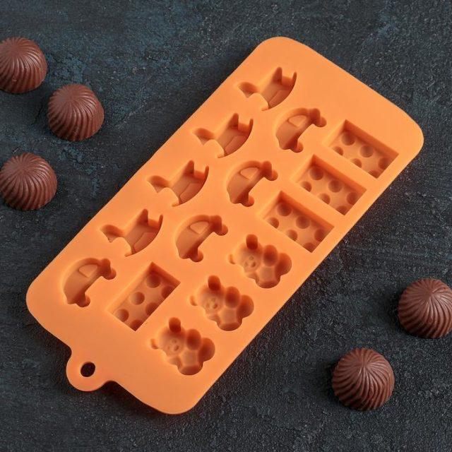 Форма для шоколада «Детские игрушки»