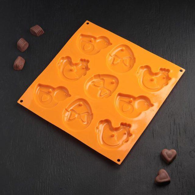 Форма для шоколада «Пасхальная курица»