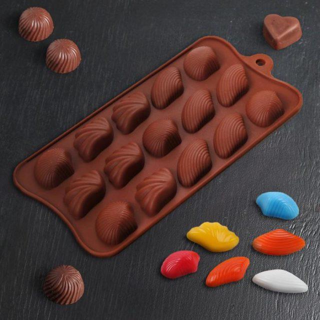 Форма для шоколада «Ракушки ассорти»