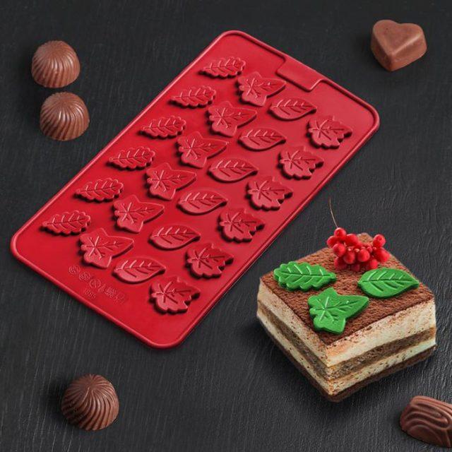 Форма для шоколада «Листики»