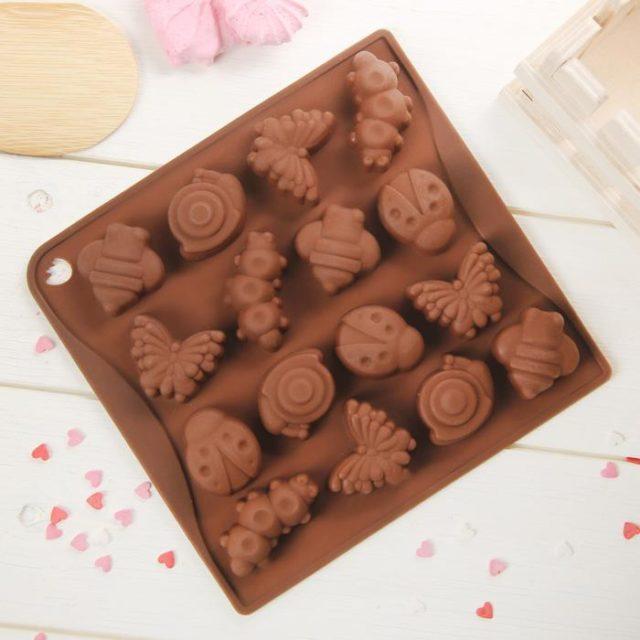 Форма для шоколада «Насекомые»