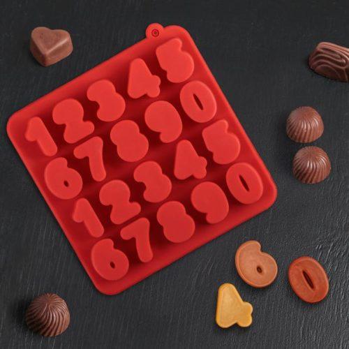Форма для шоколада «Цифры»