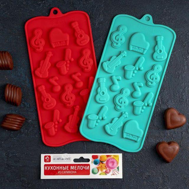 Форма для шоколада «Музыкальные инструменты»