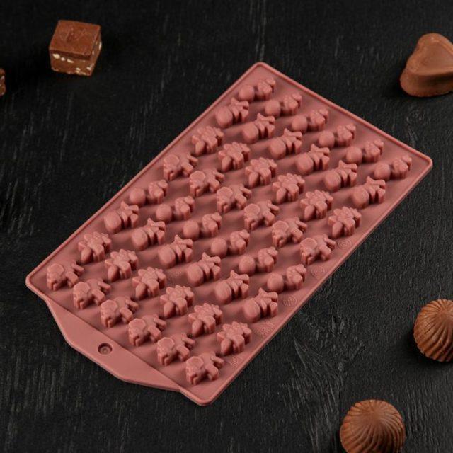 Форма для шоколада и мармелада «Дино»