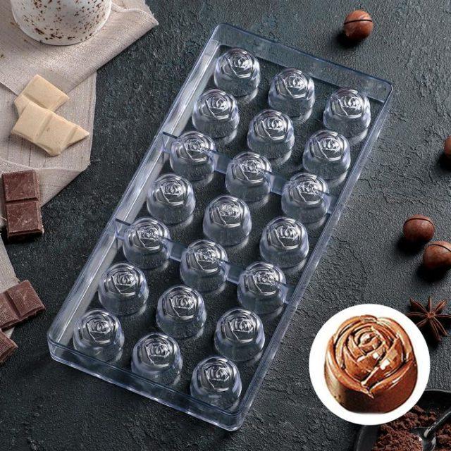 Форма для шоколада «Роза»