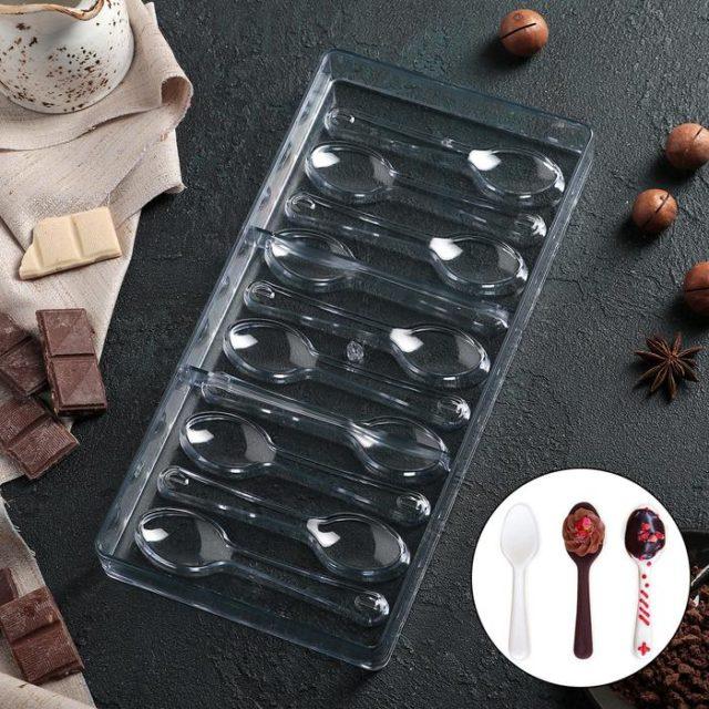 Форма для шоколада «Ложки»