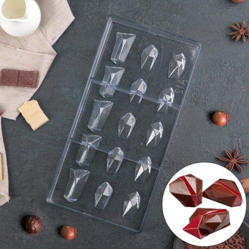 Форма для шоколада «Драгоценные камни»