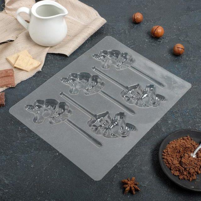 Форма для шоколада «Единороги»