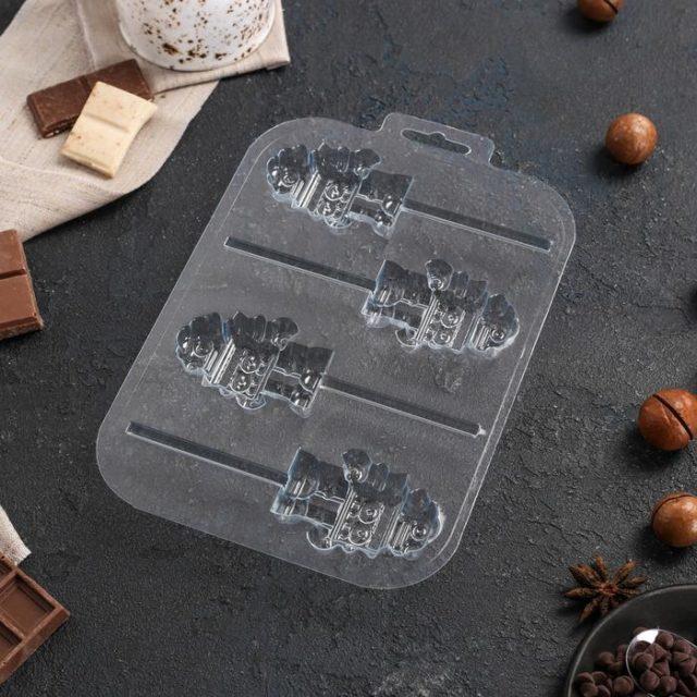 Форма для шоколада «Робот на палочке»
