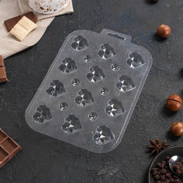 Форма для шоколада «Конфеты Гранёное Сердце»
