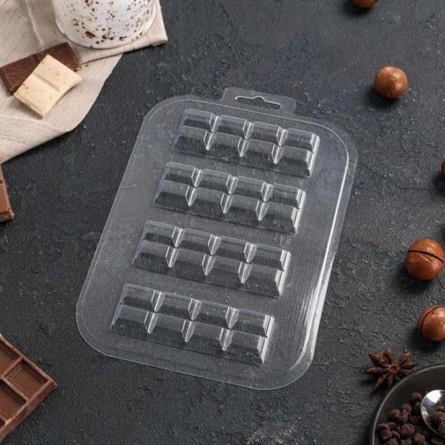 Форма для шоколада «Батончик 2×4»