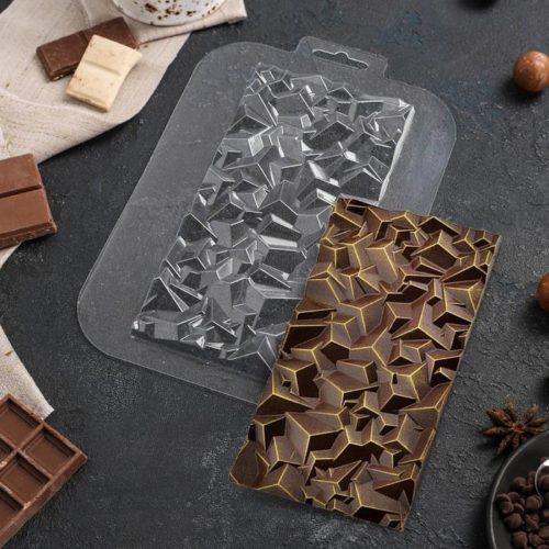 Форма для шоколада «Плитка. Сломанный кристалл»
