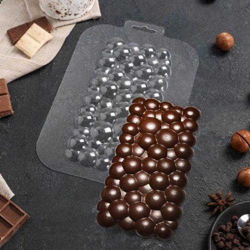 Форма для шоколада «Плитка Пузырьки»