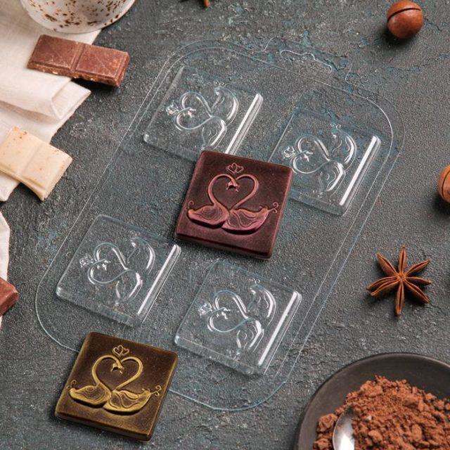 Форма для шоколада «Два лебедя»