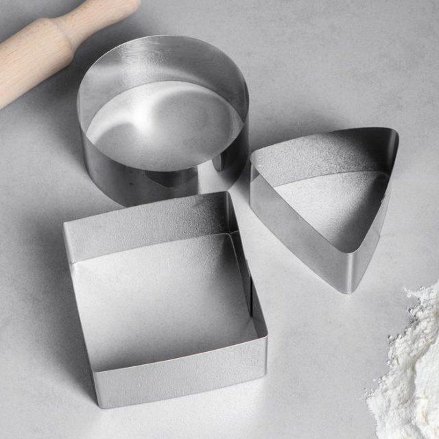 Набор форм для выпечки Квадрат. Круг. Треугольник