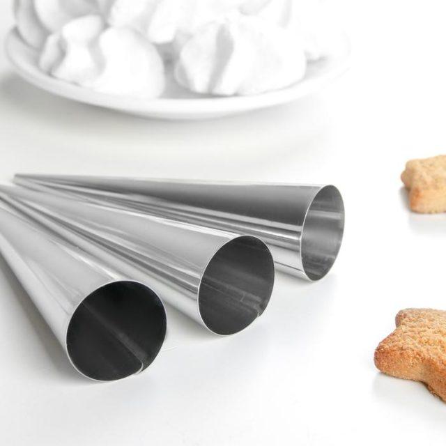 Набор форм для круассанов и трубочек 12,5×3,5 см