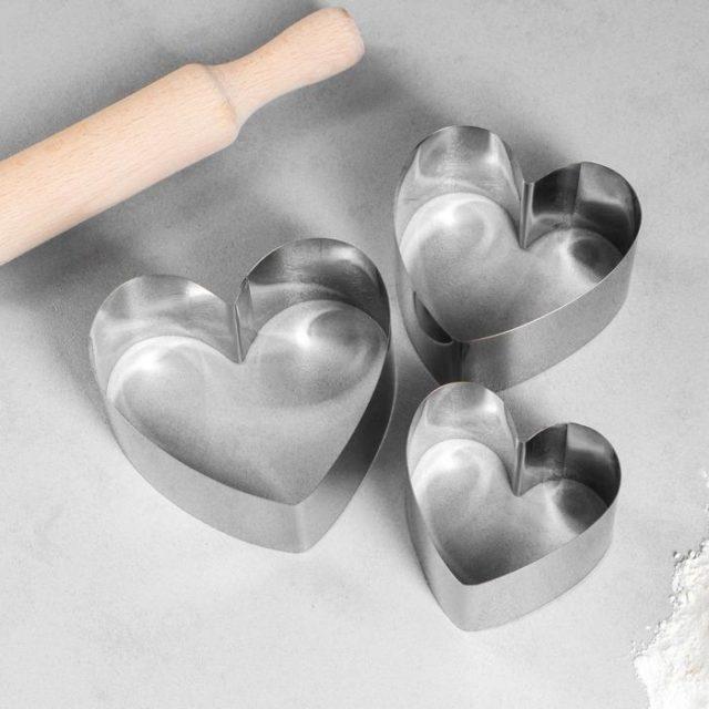 Набор форм для выпечки «Сердце»