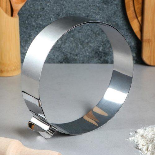Кольцо раздвижное для выпечки H=5 см D=16-30 см