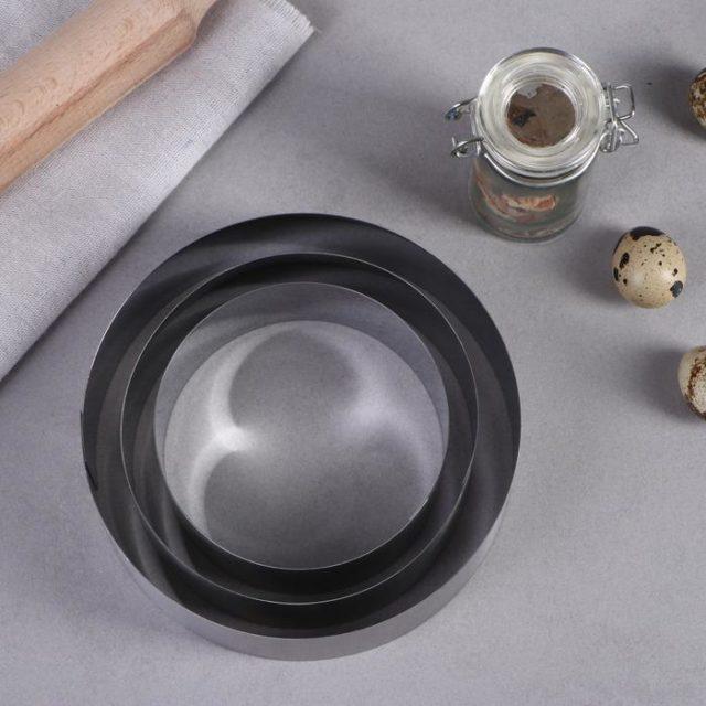 Набор колец для выпечки D=10-15 см H=5 см