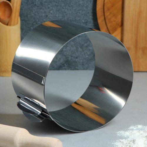Кольцо раздвижное для выпечки H=12 см D=16-30 см