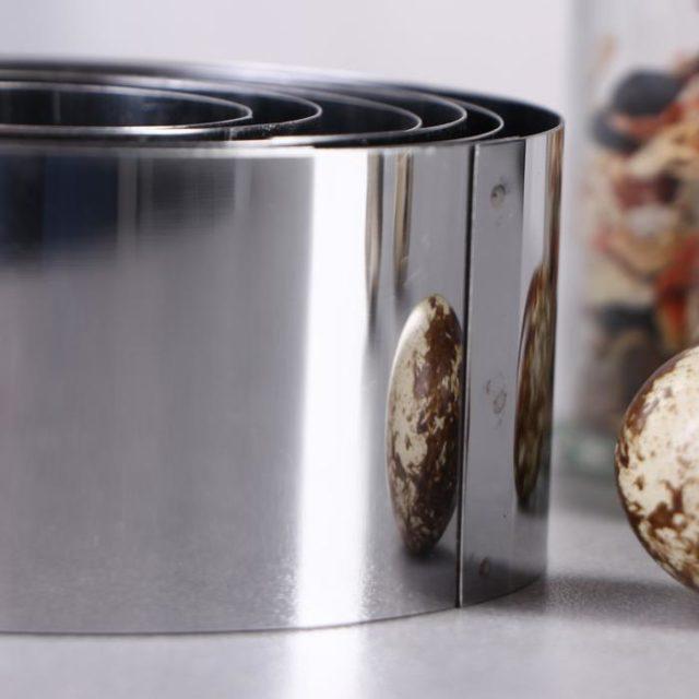 Набор колец для выпечки D=5-10 см H=5 см