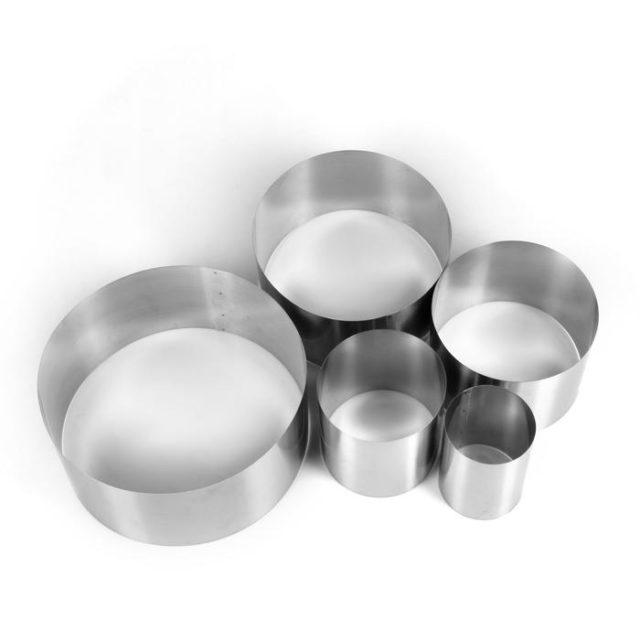 Набор колец для выпечки D=10-30 см H=12 см