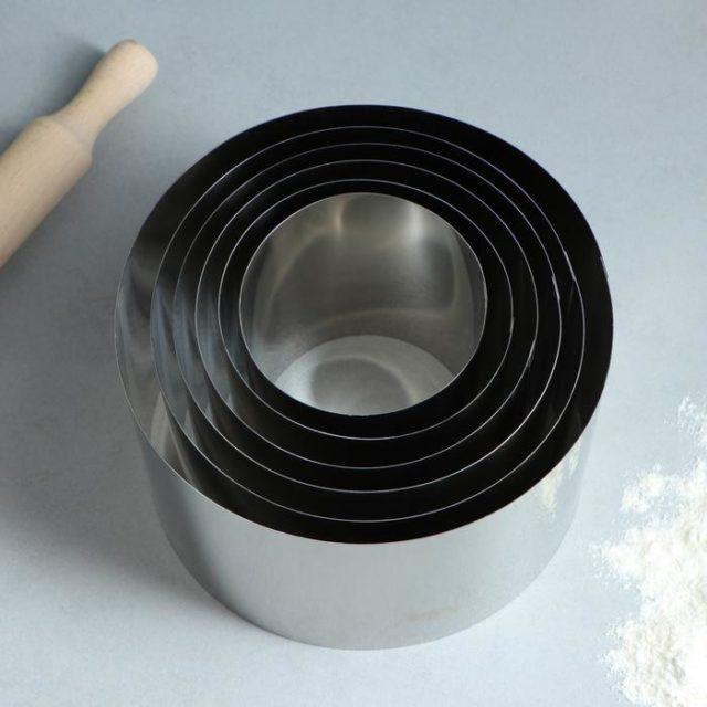 Набор колец для выпечки D=10-20 см H=15 см