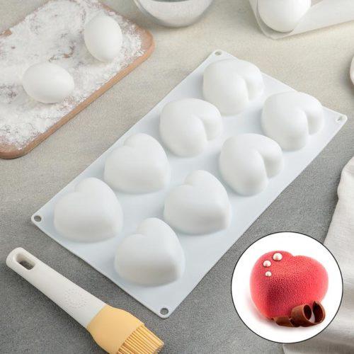 Форма для муссовых десертов «Сердца»