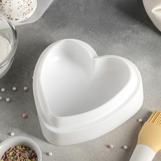 Форма силиконовая для муссового торта «Сердце»