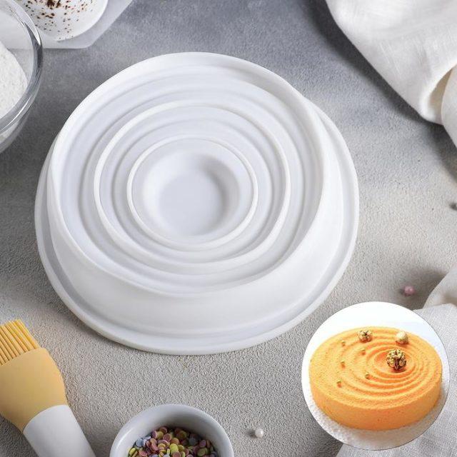 Форма силиконовая для муссового торта «Рябь»