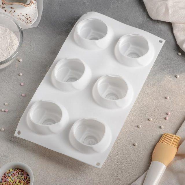 Форма для муссовых десертов «Розы»