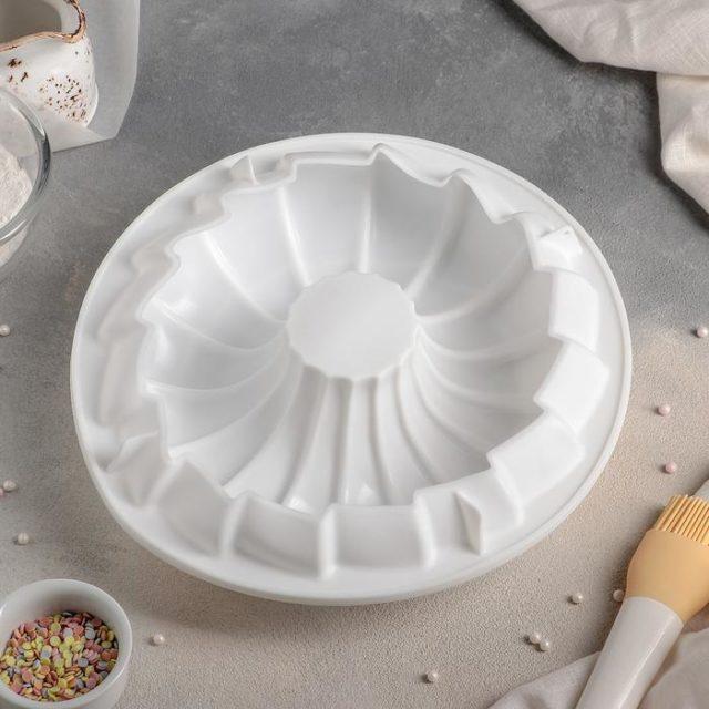 Форма силиконовая для муссового торта «Немецкий кекс. Вихрь»