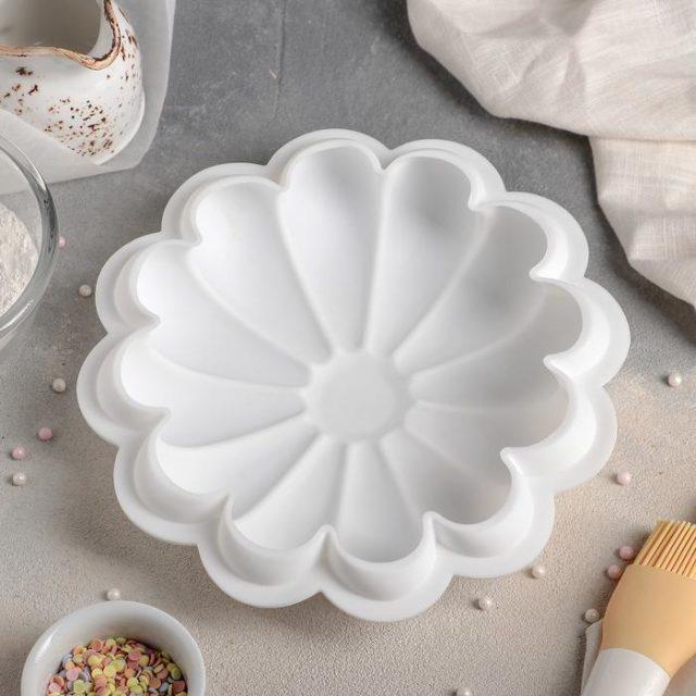 Форма силиконовая для муссового торта «Ромашка»