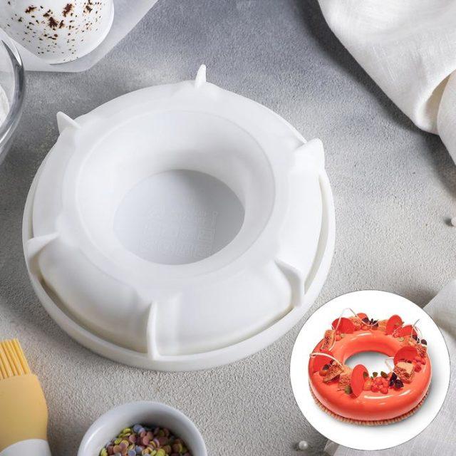 Форма силиконовая для муссового торта «Пончик»