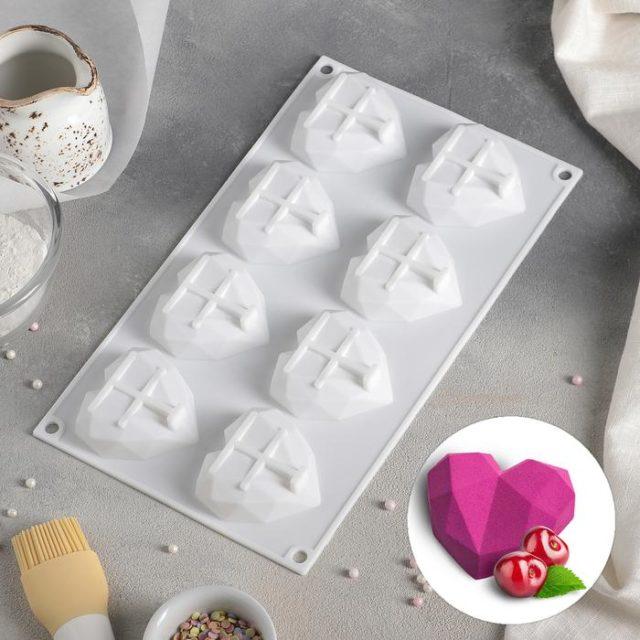 Форма для муссовых десертов «Сердце. Геометрия»