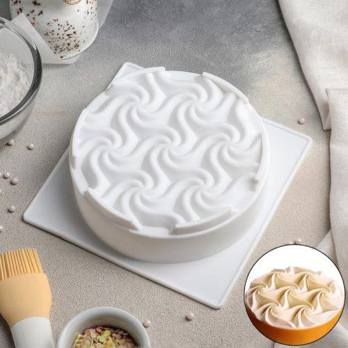 Форма силиконовая для муссового торта «Волны»