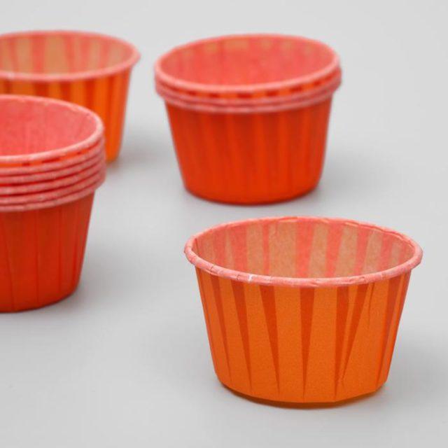 Капсулы для капкейков и маффинов - оранжевые