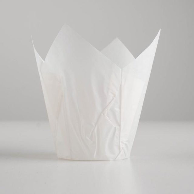Форма-тюльпан для выпечки белая