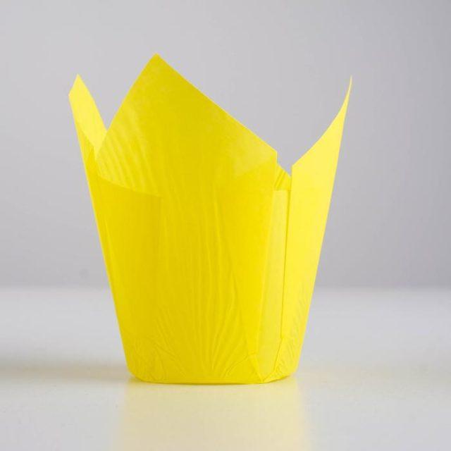 Форма-тюльпан для выпечки жёлтая