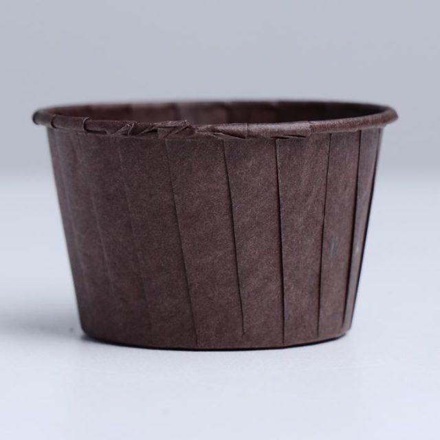 Капсулы для капкейков и маффинов - коричневые