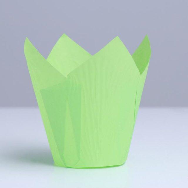 Форма-тюльпан для выпечки зелёная