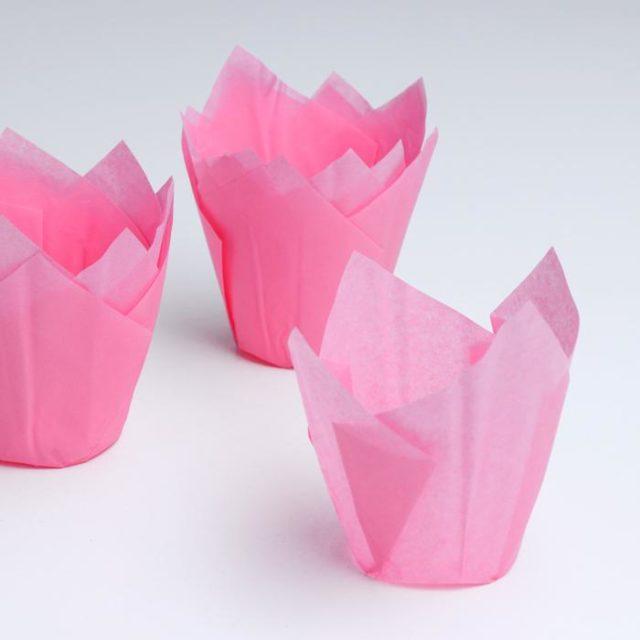 Форма-тюльпан для выпечки розовая