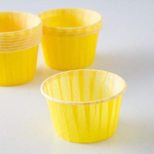 Капсулы для капкейков и маффинов - жёлтые