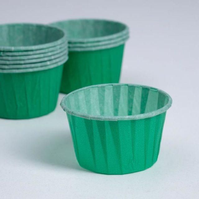 Капсулы для капкейков и маффинов - зелёные