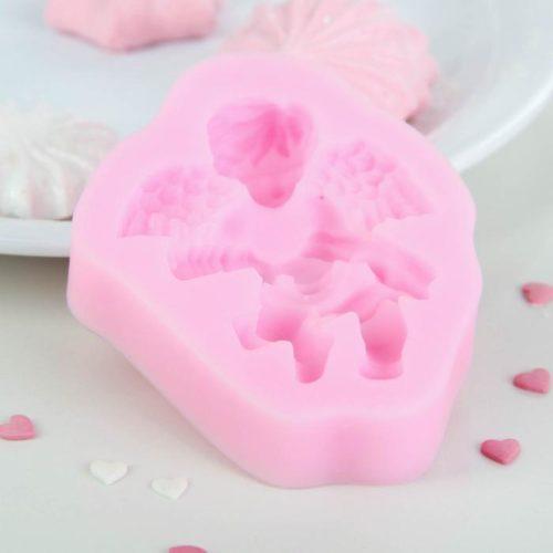 Молд силиконовый «Ангел с гармошкой»