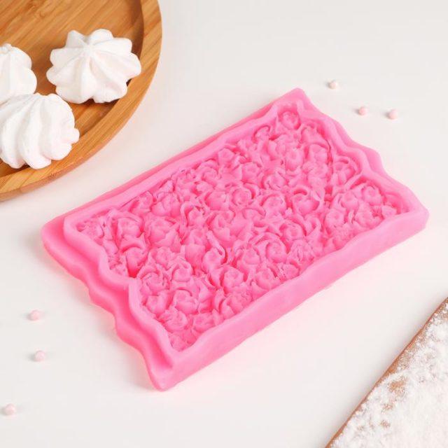 Молд силиконовый «Ковёр из роз»